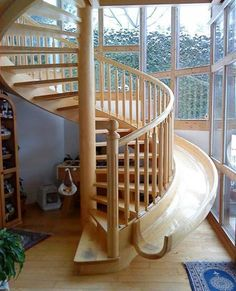Staircase with slide!