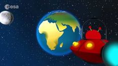 The Solar System: Cartoon animation video by ESA. Join Paxi on a journey through our Solar System, from the rocky inner planets close to the Sun, past the gi. Solar System Planets, Our Solar System, Children Cartoon Video, Space Activities For Kids, Dwarf Planet, Closer To The Sun, Shape Puzzles, Animation, Kids Corner