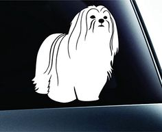 Lhasa Apso Symbol Decal Paw Print Dog Puppy Pet Family Breed Love Car Truck Sticker Window (White) ExpressDecor http://www.amazon.com/dp/B00TQ8B9P2/ref=cm_sw_r_pi_dp_PDl5ub15KGF34