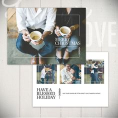 This Christmas card template form the Urban Holiday collection is a modern holiday card featuring classic type with tree and line details. Christmas Card Template, Christmas Photo Cards, Holiday Cards, Album Photo, Photo Book, Album Digital, Mise En Page Magazine, Photoshop Program, Design Brochure