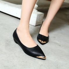 Pointed Toe Snake Pattern Women Flats Shoes 9253