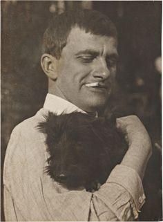 'Mayakovsky with Scottie', 1924 – photo by Alexander Rodchenko