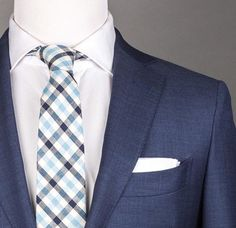 Blue plaid tie available at www.patyrns.com!