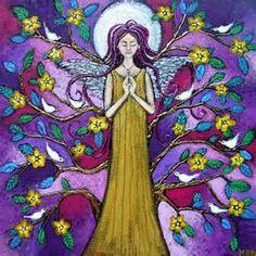 Spring Folk Art Angel