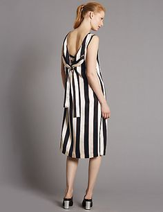 Striped Slip Dress with Belt | £59 Marks and Spencers