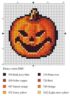 Halloween pumpkin. Perler beads.