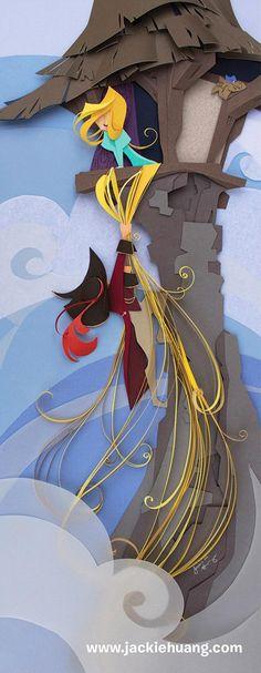 Disney Paper Art – L'artiste Jackie Huang rend hommage aux personnages Disney