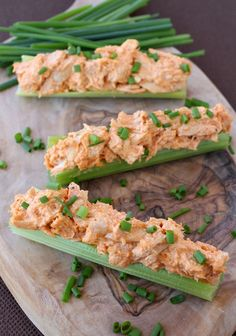 These Buffalo Chicken Celery Sticks are totally addictive – and if you're looking for a low carb snack or lunch this is the recipe you need.