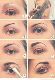 """I never gave eyebrows a second thought and then one day in 2005 someone showed me the error of my ways. Eyebrows make a huge difference! Fastforward many years and I still do have not a single item to do this but whatevs. If I did I would. """"Eyebrow Tutorial via www.thewonderforest.com"""""""