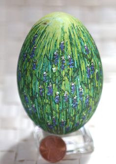 If you've ever done pysanky, you know how hard this is.  (Artist Katy David does amazing Pysanky eggs. Her blog details each egg design: katyegg.blogspot)