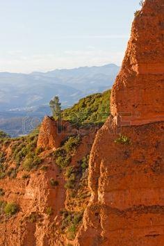 Afternoon in Las Medulas ancient Roman mines Leon Spain Stock Photo