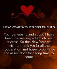 happy new year wishes for customer 2016