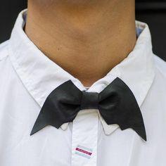 Leather Batman Bow-tie #Batman, #bowtie, #Cool