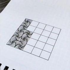 31 Ideas for doodle art ideas draw zentangle patterns Doodle Zen, Doodle Art Drawing, Zentangle Drawings, Mandala Drawing, Pencil Art Drawings, Cool Art Drawings, Graph Paper Drawings, Graph Paper Art, How To Zentangle