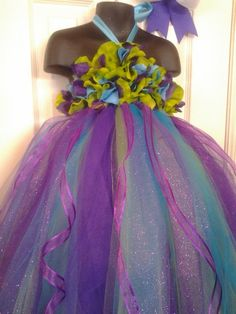 Disney Princess Ariel Inspired Little Mermaid tutu dress with matching hairpiece.. $40.00, via Etsy.