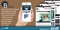 Bubble - Modern Email Artistic HTML Template