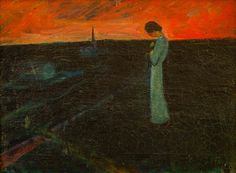 Dulwich heads back to Norway for major Harald Sohlberg exhibition Romanticism Paintings, Dulwich Picture Gallery, Moonlight Painting, North Europe, National Museum, Dark Art, Art Museum, Norway, Art Quotes