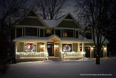 front porch with christmas lights | Christmas Light Ideas to Make the Season Sparkle
