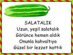 Turkish Lessons, Cucumber, Activities For Kids, Education, Drama Drama, Activities, School Supplies, Turkish Language, Teaching