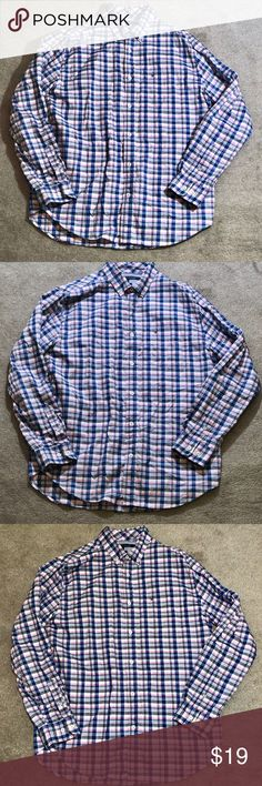 Tommy Hilfiger Striped Button Down. Classic Fit. L Fabulous Tommy Hilfiger Classic Fit Button Down. Size Large. Excellent Condition. Magnificent Color Combination. Pink, Blue White. Tommy Hilfiger Shirts Casual Button Down Shirts