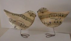 Items similar to Pr. of Sweet Music Love Birds Wedding Baby Showers Cake Toppers / Decorations on Etsy Bird Cake Toppers, Wedding Cake Toppers, Wedding Cakes, Music Bird, Sheet Music Crafts, Art Fil, Love Birds Wedding, Gift For Music Lover, Music Lovers