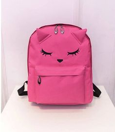 f4a773992f Cute Cartoon Embroidery Cat Printing Backpack Canvas Backpacks For Teenage  Girls College Style Casual Backpack Sac Mochilas