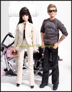 Harley Davidson Ken Doll   ... Fashion Dolls by Terri Gold: Harley-Davidson Barbie and Ken Giftset