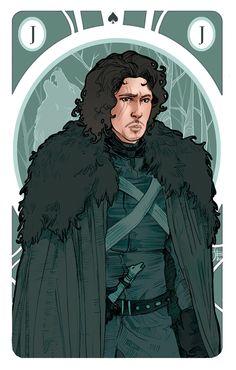 Game of Thrones' Cards   Jon Snow como o valete de espadas
