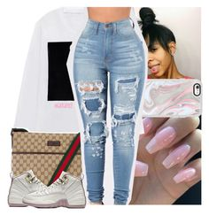 """"""""""" by lamamig ❤ liked on Polyvore featuring Casetify and Gucci"""