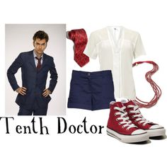 """Tenth Doctor"" I like the blue pinstripe suit. And converse of course. Would go well with the bridesmaids."