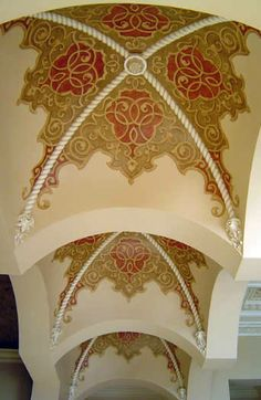 Groin Ceiling hand painted by Jeff Huckaby.
