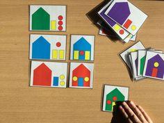 Pour ce mois de janvier, je vous propose le jeu des maisons pour Maternelle et CP. J'ai fabriqué trois jeux qui correspondent à trois niveaux de difficultés différents, (ce qui ravira les ad…