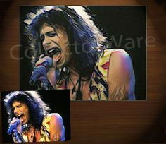AEROSMITH Steven Tyler drawing CANVAS PAINTING.  All original paintings direct from the artist, available as oil or acrylic, feel free to choose the artistic technique of your preference. To purchase this, or for painting orders, please contact us at info@collectorware.com, or visit http://www.collectorware.com/canvas-aerosmith.htm