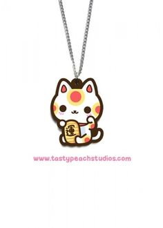 A super cute lucky cat necklace The charm is aprox inches tall and suspended from an inch silvertone chain br br Acrylic is waterproof and scratch resistant All jewelry is Japanese Cat, Japanese Culture, Tasty Peach Studios, Cute Jewelry, Jewelry Box, Maneki Neko, Cat Necklace, Lucky Charm, Types Of Fashion Styles