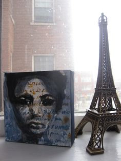 MADEMOISELLE in Paris  6x6 ORIGINAL Painting by jessicanewell, $50.00
