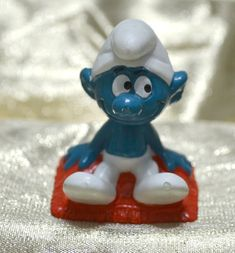 Smurfs 20711 Movie Director Brainy Smurf Vintage Film Figure Peyo Schleich Toy