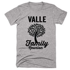 VALLE Family Name Reunion Gathering Surname T-Shirt