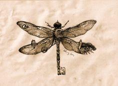 steampunk dragonfly key by agentcoleslaw.deviantart.com on @DeviantArt