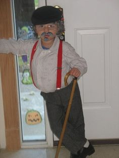 Old man costume & 100th Day of School costume. Toddler Old Man costume. | Ty ...
