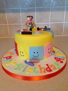Mr Tumble and Mister Maker Birthday Cake