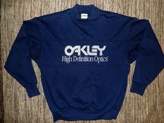 vintage 80's oakley high def optics sweatshirt shirt men's size l made in usa from $9.95
