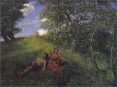 """Mittagsruhe"", 1889, Hans Thoma (1839-1924)"