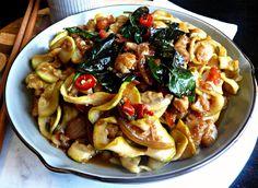 Thai Plant-based Pad Kee Mao noodles (vegan + gluten, grain, nut & sugar-free), a spicy treat