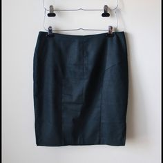 "Dark denim ""look"" skirt Dark denim look pencil skirt - slits at sides - back zipper closure - lined - cotton/polyester/spandex combo - waist across measures 17"" - total length measures 22"" - excellent condition - size 12 Mossimo Supply Co. Skirts Pencil"