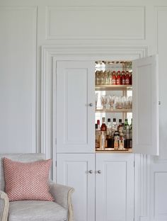 Drawing Room with built in drinks cabinet