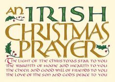 Irish Christmas prayer