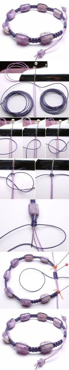 DIY Precious Stone Bracelet diy how to tutorial