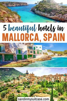 5 Beautiful Hotels in Mallorca Spain. From grand castles to charming fincas (farm estates), there are plenty of great places to stay in Mallorca! These five are among the best hotels on the island. #Mallorca #Majorca #Spain #luxuryresort #luxuryhotel #hotelreview Luxury Travel, Us Travel, Places To Travel, Travel Destinations, All Inclusive Resorts, Hotels And Resorts, Best Hotels, Beach Cove, Affordable Hotels