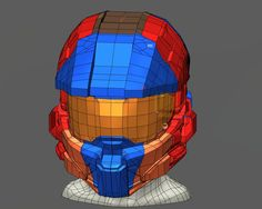 Halo 4 Helmet Rendering by Anthony Tod #Fusion360