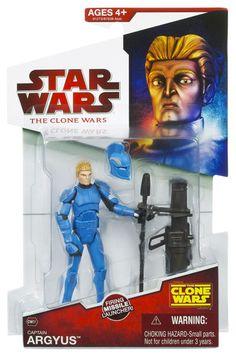 2009 Clone Wars Carded Captain Arygus (Senate Commando)
